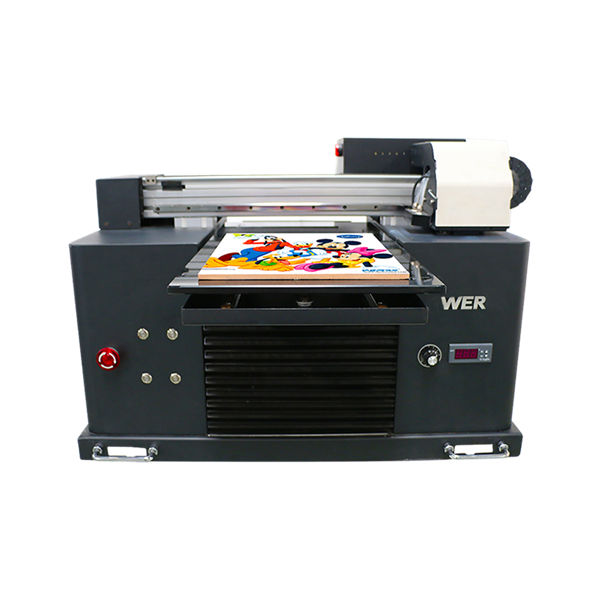 Specifications Usage:Card Printer Plate Type:Flatbed Printer Condition:New Dimensions(L*W*H):65*47*43 CM Weight:62kg Automatic Grade:Automatic Voltage:AC220/110V Warranty:1 Year Print Dimension:16.5x30 CM, A4 SIZE Ink Type:LED UV ink products name:Small Printer A4 Size Digital Printing Machine UV Flatbed Printer Ink:LED UV ink Print Height:0-50mm Ink system:CISS system Ink colors:C M Y K W W Number of Nozzles:90*6=540 Print software:WINDOWS SYSTEM EXCEPT WIN 8 Voltage::AC220/110V Gross Power:30W