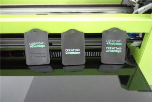 Black cutting ferrule printing sample by WER-EP6090UV