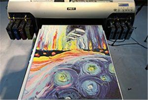 Canvas sample from A2 UV Printer WER-EH4880UV