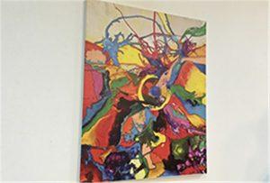 Canvas sample printed by A1 size uv printer WER-EP6090UV