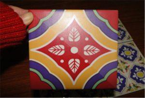 Ceramic tile sample printed on A2 uv printer WER-D4880UV