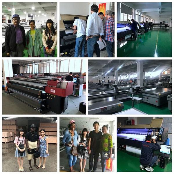 2513 multicolor digital ceramic printer Xaar 1201 head flat bed uv printer