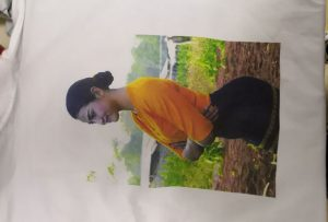 T shirts printing sample for Burma client from WER-EP6090T printer