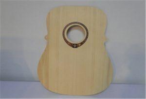 Wood guitar sample from A2 size uv printer WER-DD4290UV