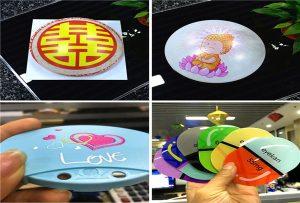 printing samples of plastic from A1 size uv printer 6090UV